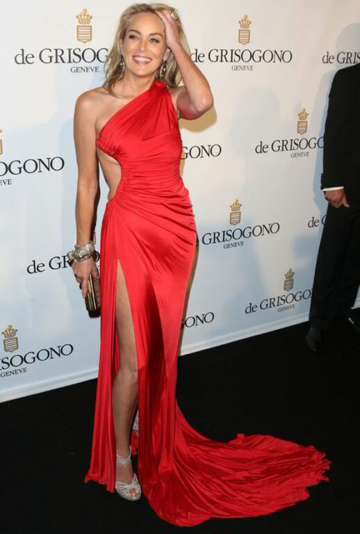 "Резултат с изображение за ""sharon stone red dress"""